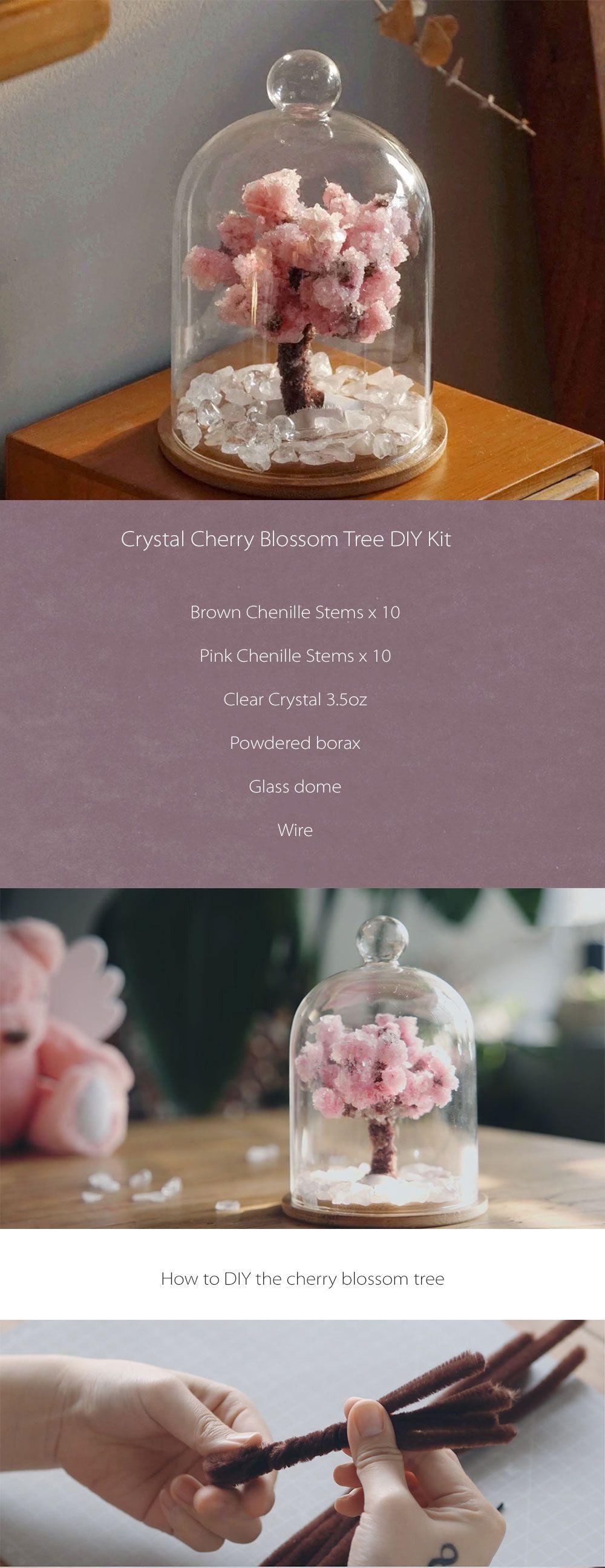 Crystal Cherry Blossom Tree Diy Kit Bring The Cherry Blossom Tree Into Your Room Cherry Blossom Tree Diy Kits Diy Crystals
