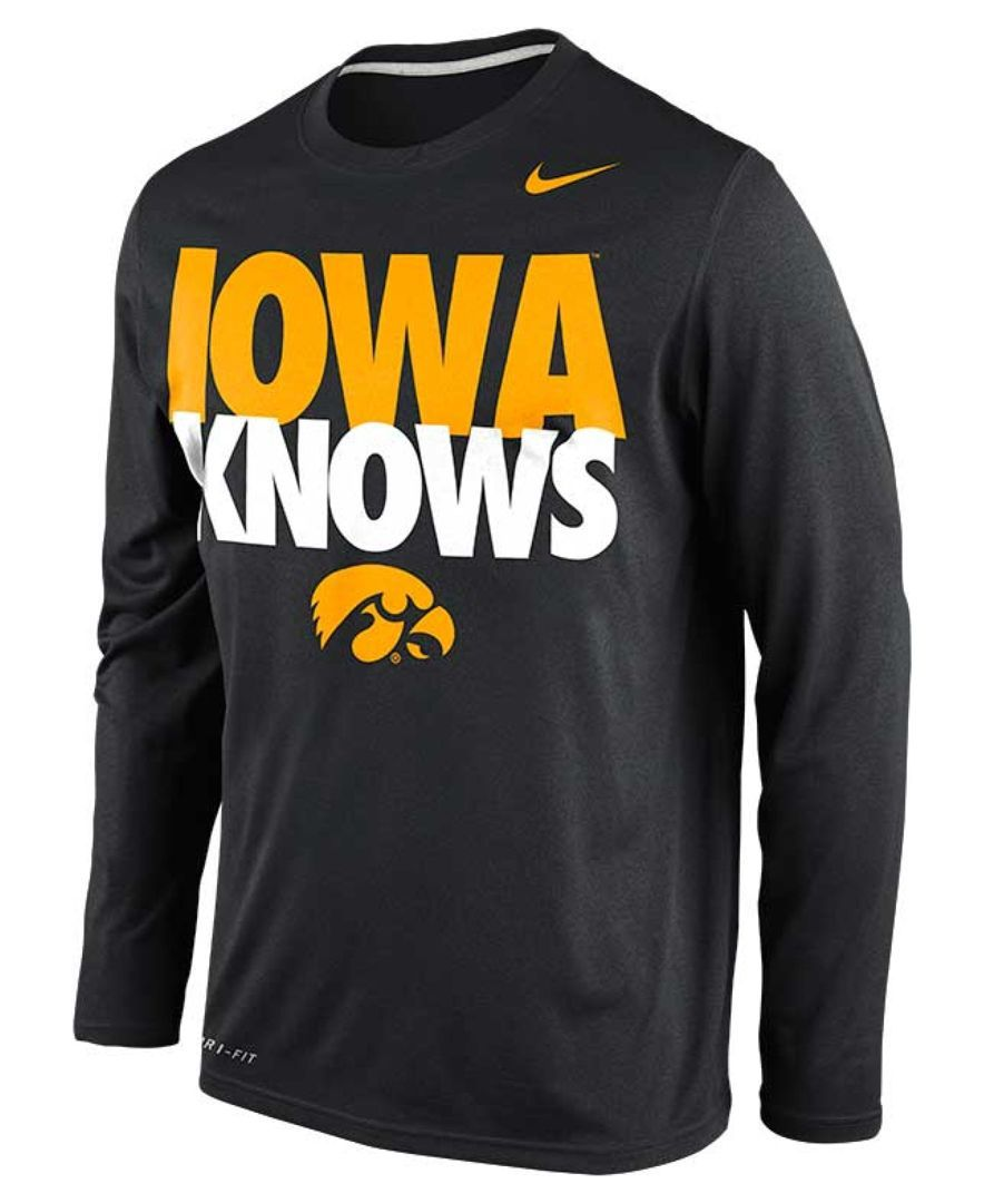 Nike Men's LongSleeve Iowa Hawkeyes Drifit TShirt