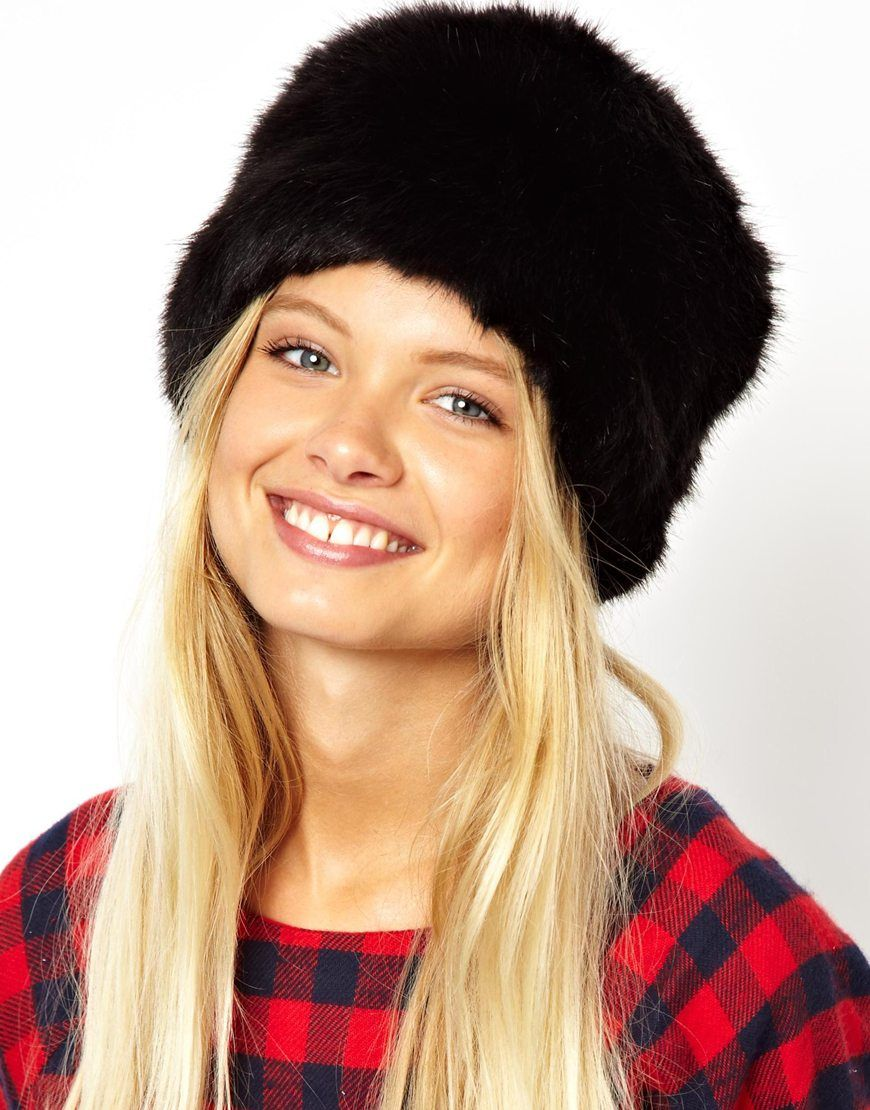 a314c97539c faux fur animal hat with long scarf hat wolf fur hat with paws ...