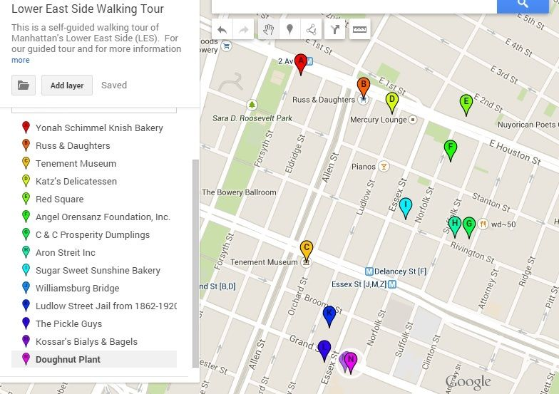 Lower East Side Food Tour Map | Lower east side nyc, Lower ...