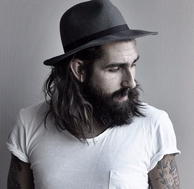Pin By Sarah Handy On Beards And Tattoos Hats For Men Wearing A Hat Beard