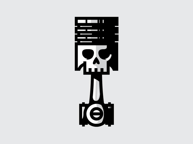Skull Piston icon | Icons, Logos and Tattoo