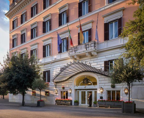 Set in one of Rome's most exclusive areas, near Via Veneto and within walking distance of the Spanish Steps, luxurious Hotel Eden offers a little taste of paradise in Rome. Description from booking.com. I searched for this on bing.com/images
