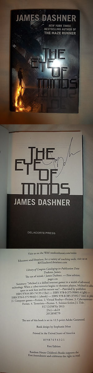 books and magazines: ***Signed 1St Printing Ed*** The Eye Of Minds By James Dashner (Hardcover) New -> BUY IT NOW ONLY: $35.2 on eBay!