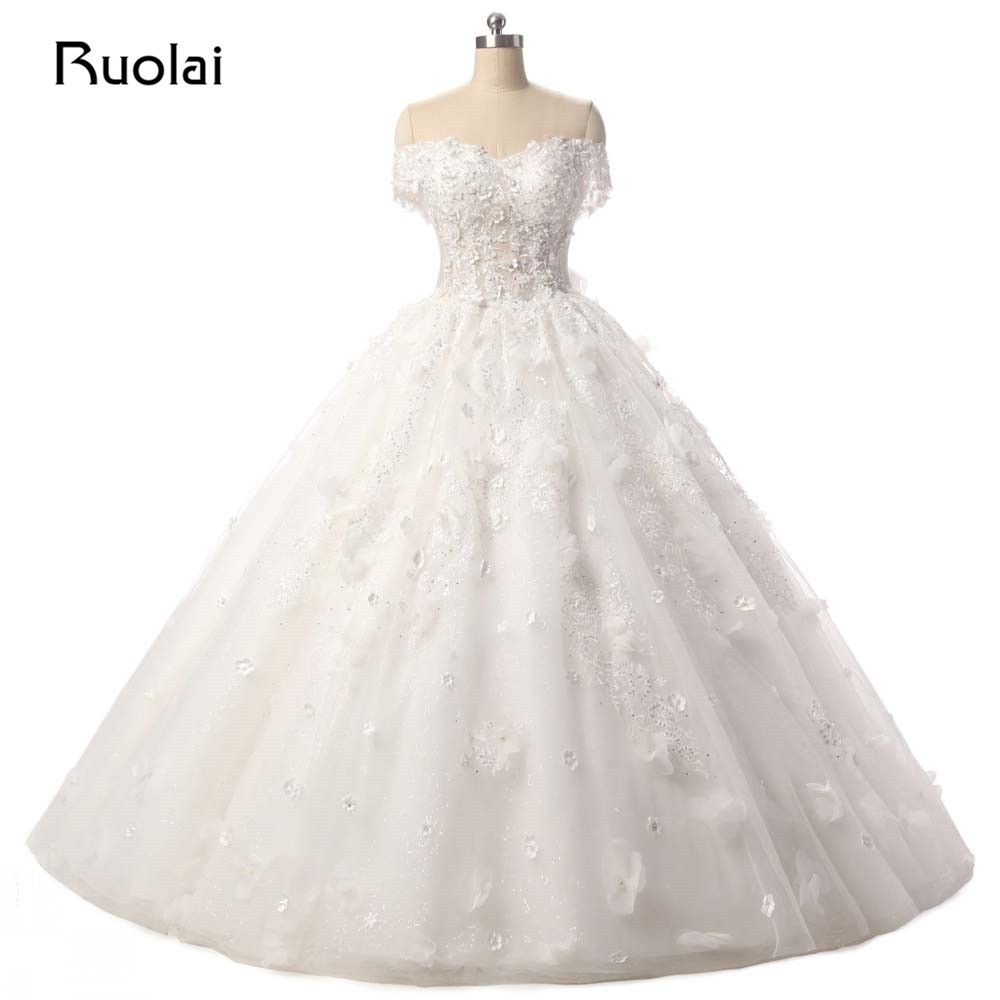 >> Click to Buy << Real Photo Luxury 2017 Wedding Dresses Turkey Off the Shoulder Appliques Sequined Ball Gown Wedding Dress Vestido de Noiva FW36 #Affiliate