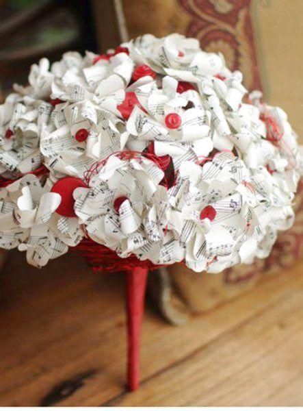 Bouquet Sposa Fai Da Te.Bouquet Di Carta Fai Da Te Per La Sposa The Wedding Italia