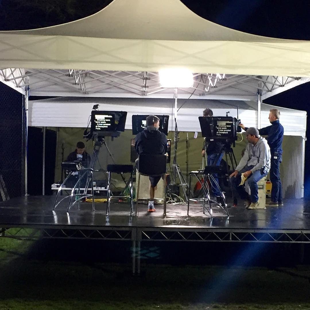 The stage is set and @sunriseon7 is nearly ready to go! #sun7 #big4beaconresort @letsgocaravancamping by big4beaconresort http://ift.tt/1JO3Y6G