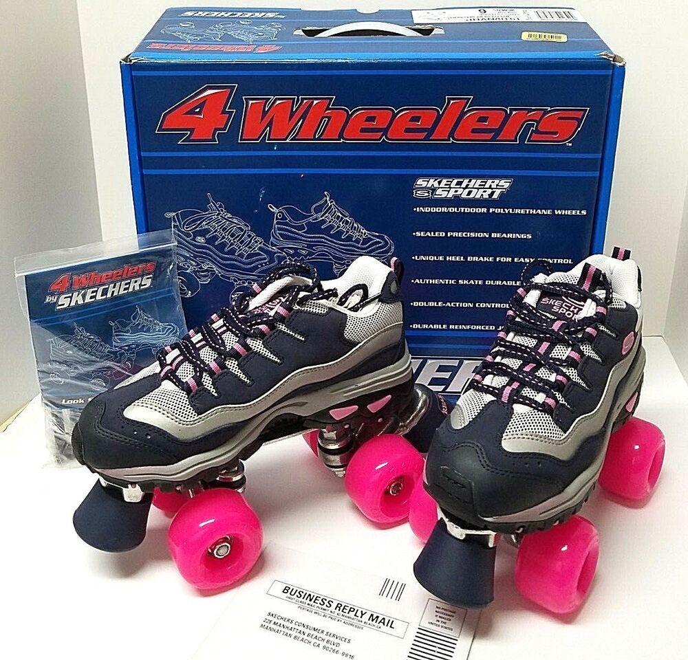 SKECHERS SPORT 4 Wheelers Roller Skates NavyHot Pink