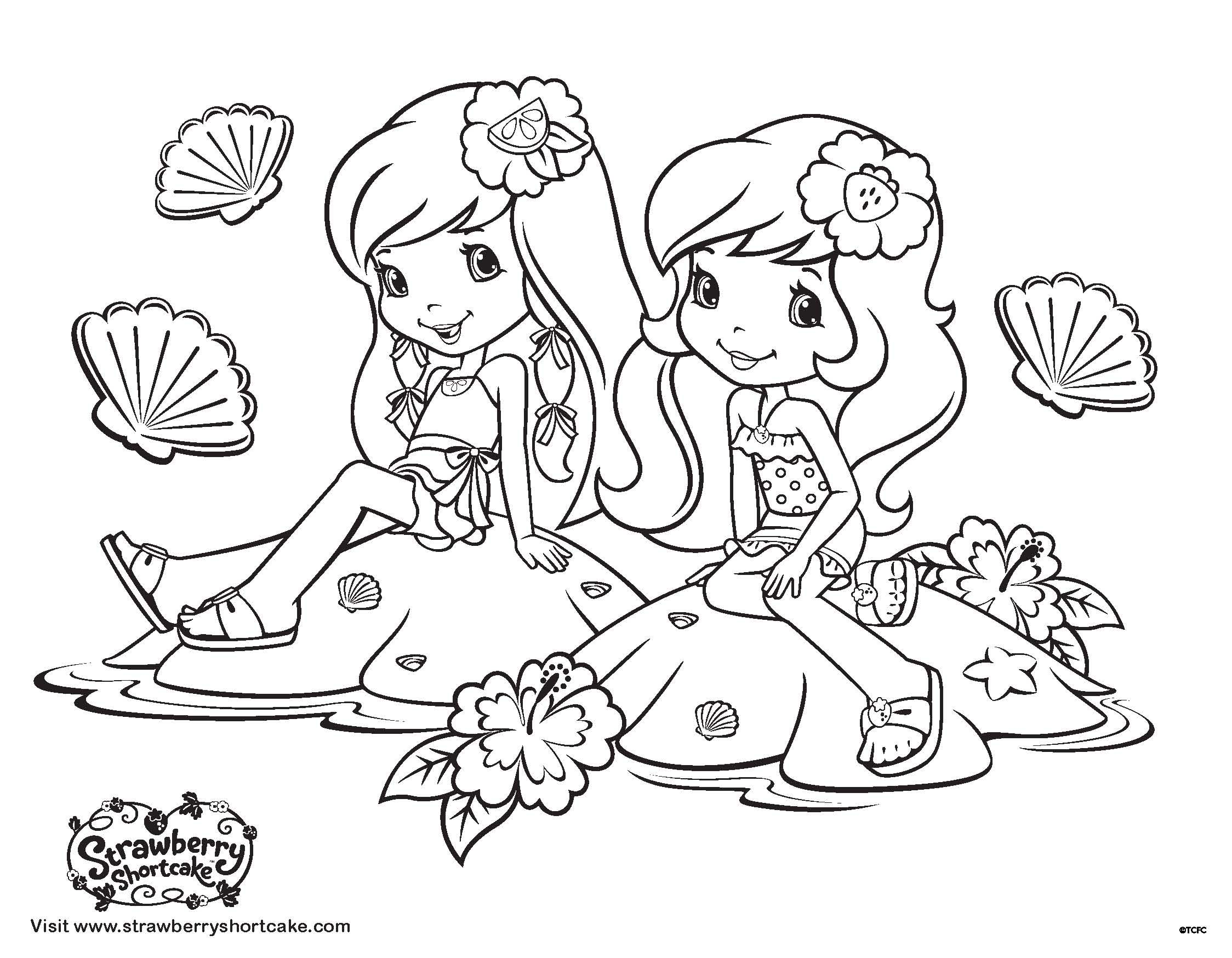 Color up some summer fun with this new coloring book page from the