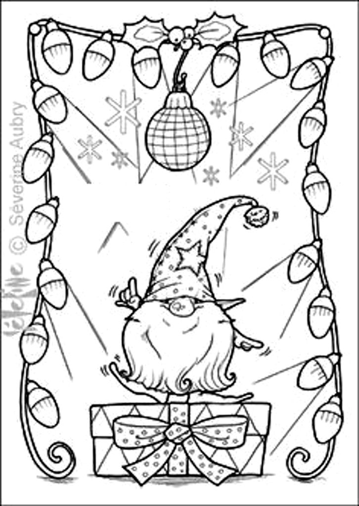 Christmas Gnome Coloring Page Christmas coloring pages