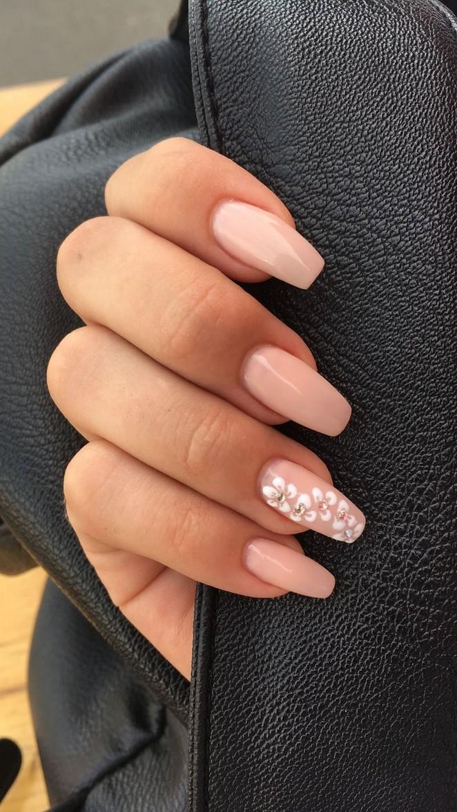 73 Amazing Simple Short Acrylic Summer Nails Designs For 2019 2 Acrylic Nail Designs Flower Nails