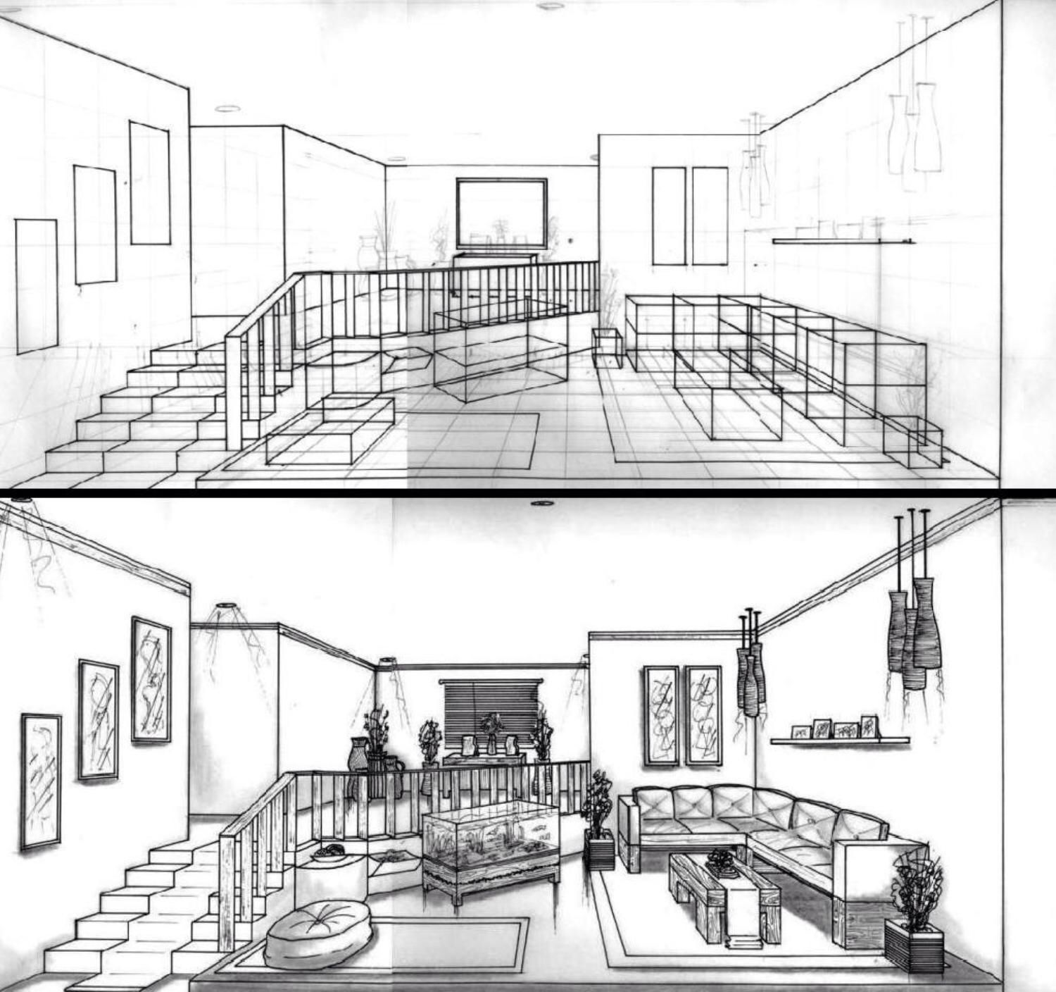 One point perspective living room drawing - 1 Point Perspective Room One Point Perspective Drawing The Ultimate Guide