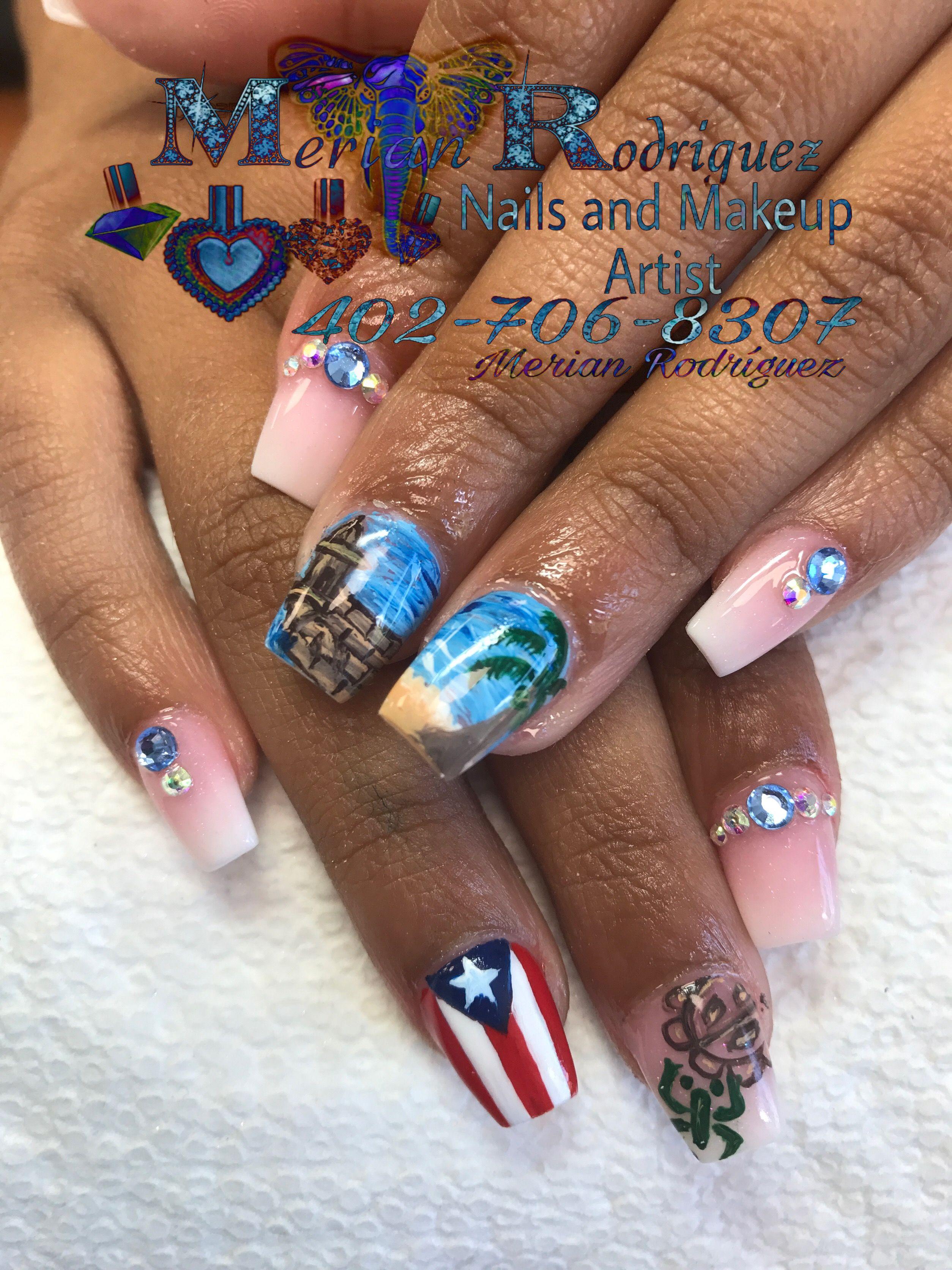 Puerto Rico Nail Art By Merian Rodriguez Merianrdrgz1gmail
