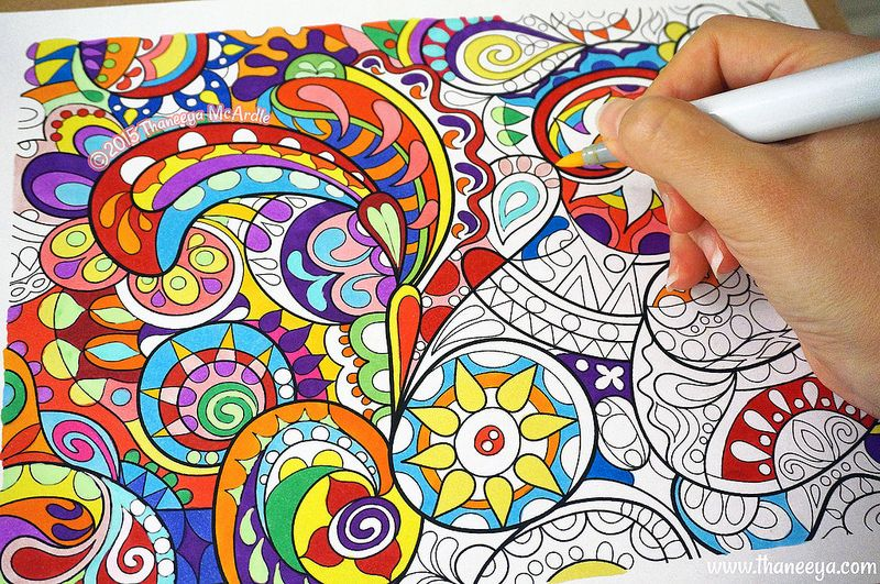Abstract Coloring Page By Thaneeya McArdle