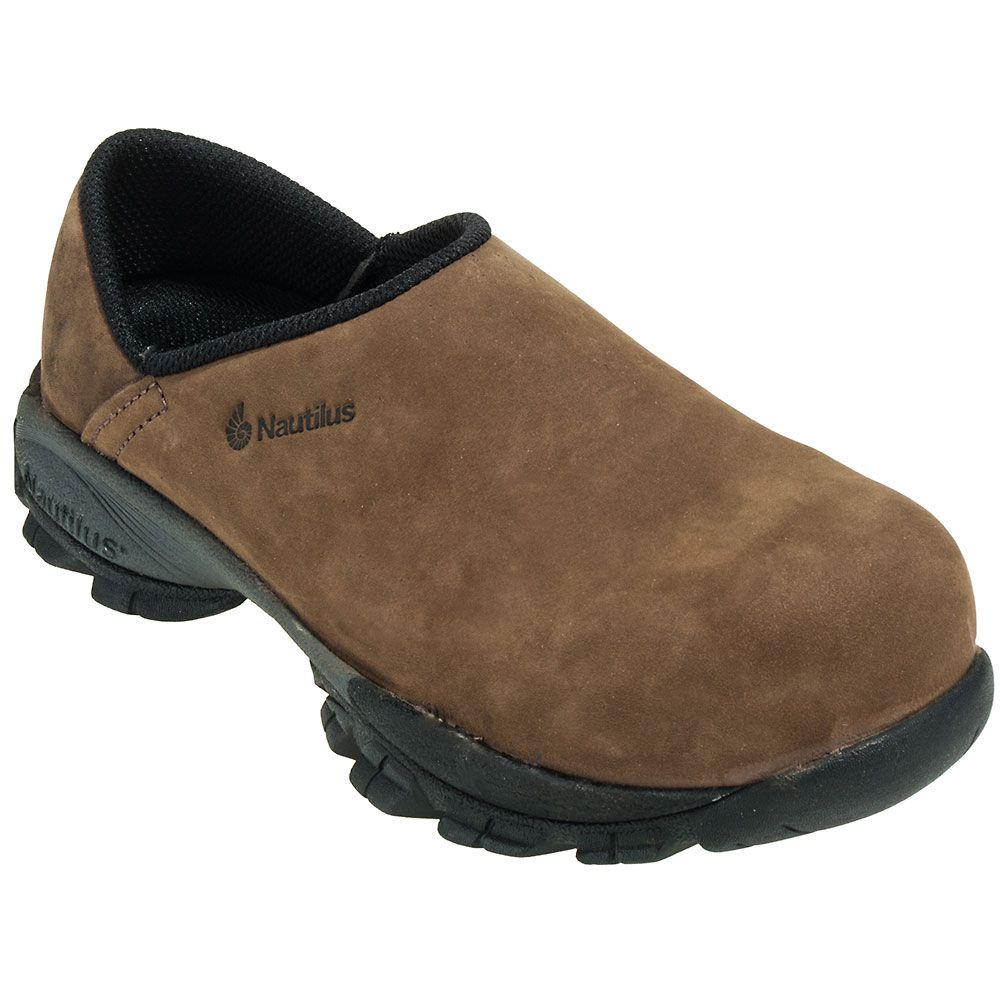 046940e46a9d Nautilus Shoes  Women s Brown N1880 Composite Toe ESD Slip-On Clog Shoes  N1880