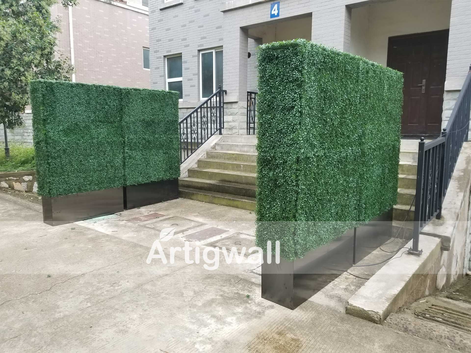 artificial boxwood hedge with planter box 79inches on interior using artificial boxwood panels with flowers id=29076