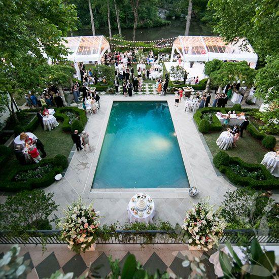 A lovely summer backyard wedding at a private home in Buckhead, Atlanta.
