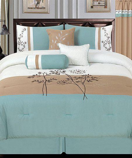 Aqua Luxury Comforter Set Roupa De Cama Cama Casal Lençol De Casal