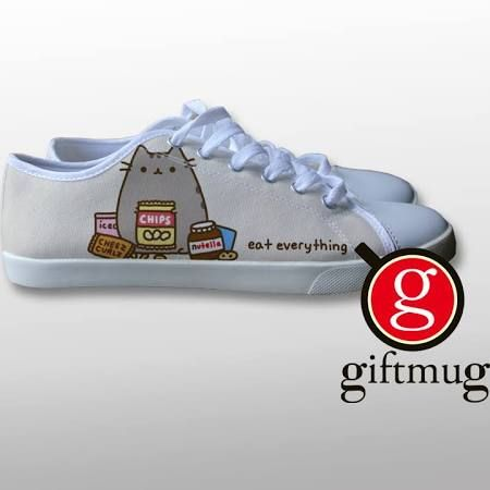 42308843bf1fc Pusheen Eat Everything Canvas Shoes | Stuff I need to own | Shoes ...