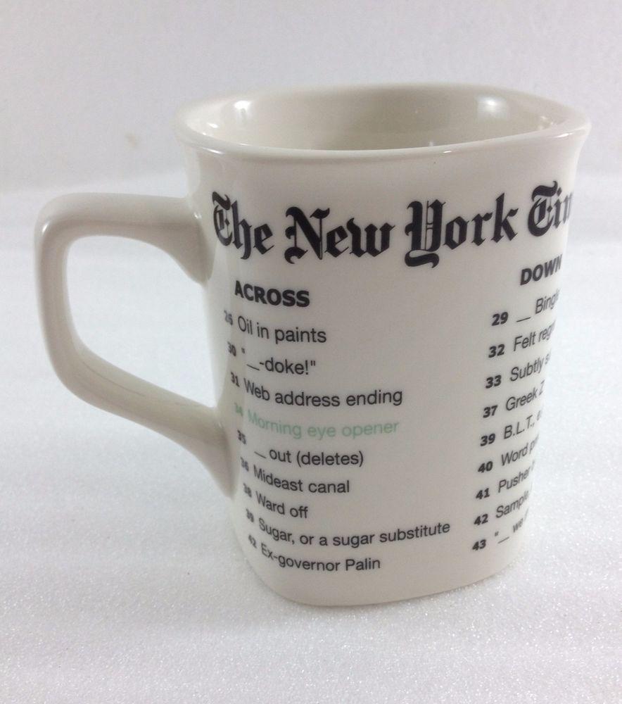 Oz Eddy New Times Puzzle York Coffee Fishs 12 Mug Crossword CBWdeQrox