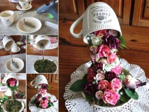 Floral Flying Coffee Cups Easy Video Tutorial Projects
