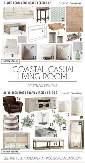 coastal-living-room-design-ideas-living-room-makeover-e-design #coastallivingrooms