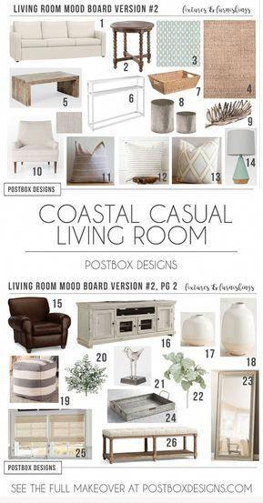 coastal-living-room-design-ideas-living-room-makeover-e-design #coastallivingrooms