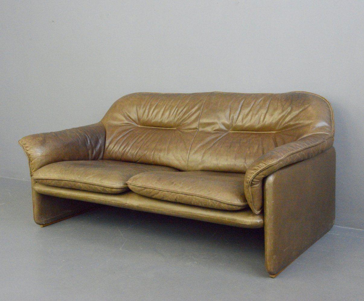For Sale Mid Century Leather Sofa By De Sede Circa 1960s Vntg Vintage In 2020 Mid Century Leather Sofa Leather Sofa Sofa