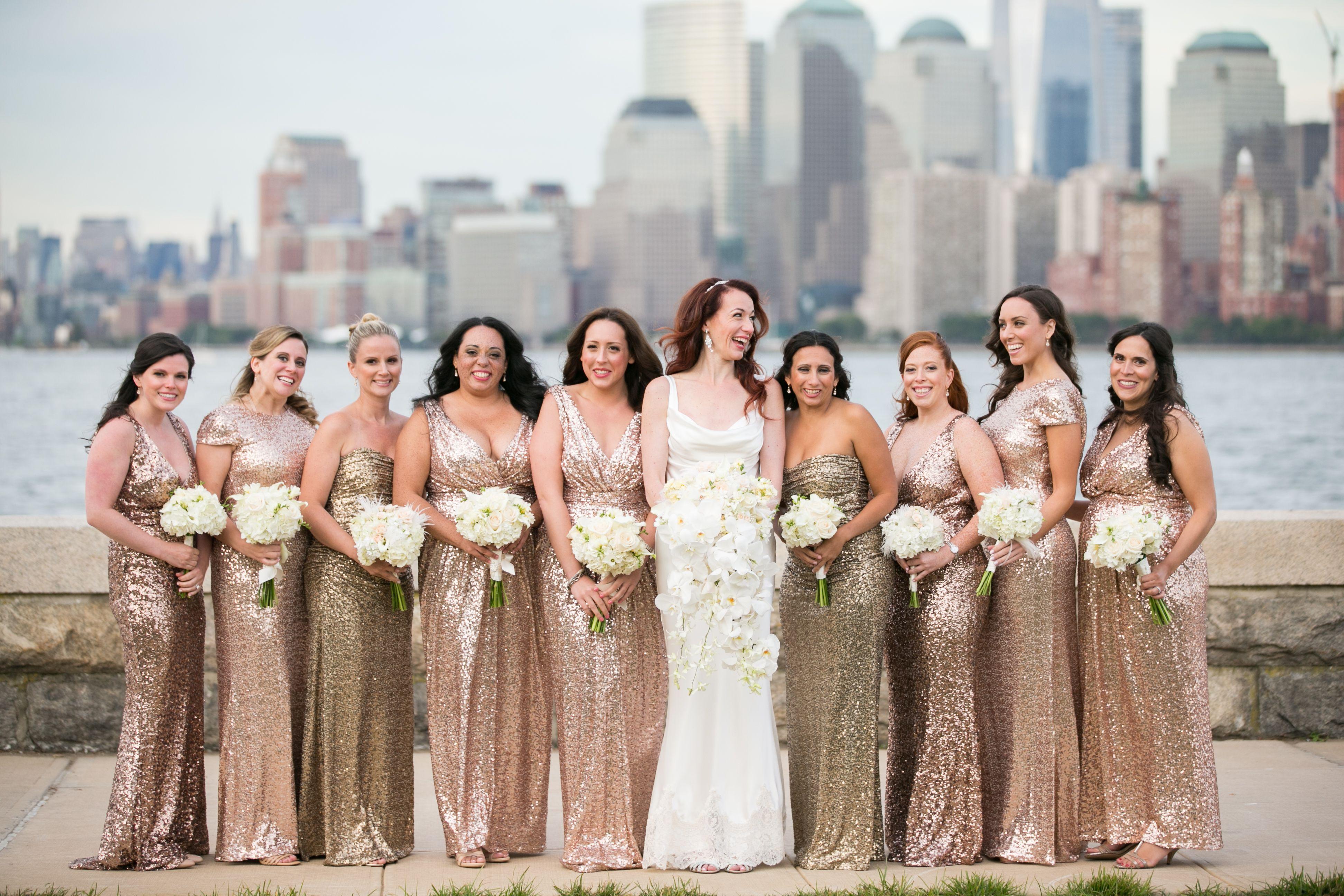 Gold sequin badgley mischka bridesmaid dresses cindys wedding gold sequin badgley mischka bridesmaid dresses ombrellifo Choice Image