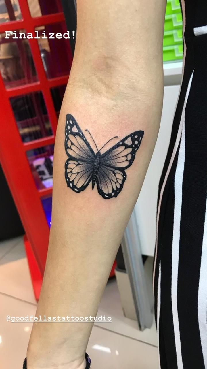 473c9f0e4 28 Beautiful Black and Grey Butterfly Tattoos | tattoo | Tattoos ...