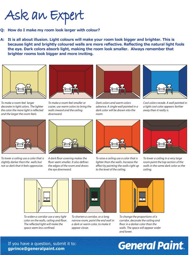 General Paint Newsletter Make A Room Look Larger Wall Colors Master Bedrooms Decor Making Room