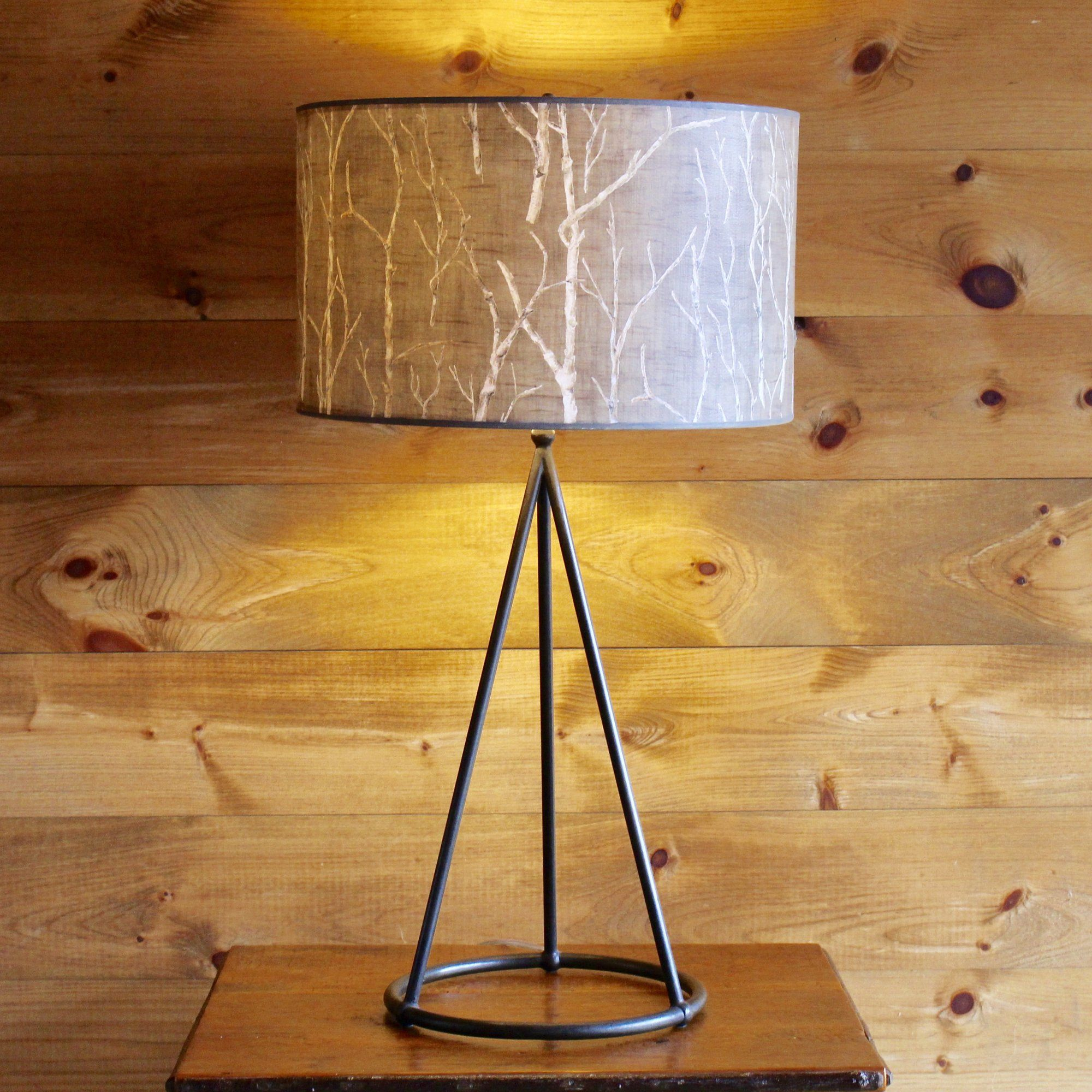 Geometry table lamp with handpainted shade white birch lamp shade geometry table lamp with handpainted shade white birch lamp shade dartbrook rustic goods mozeypictures Gallery