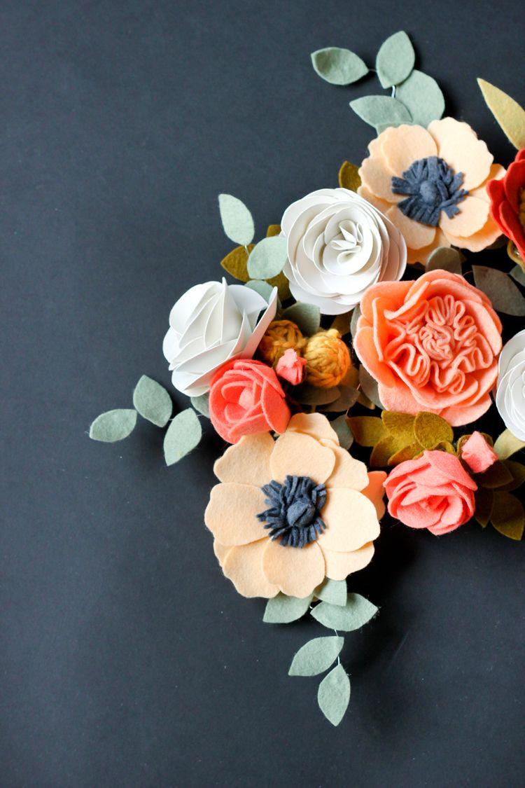 Felt Flowers Delia Creates Felt Craftiness Pinterest Felted
