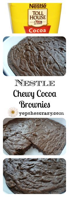 Tried, true and tested this Nestle recipe has the best flavor and texture of any brownie I've ever tried. Every time we make these, we are surprised by how good they taste and wonder why we don't make them more often.