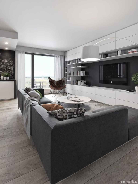55+ Fabulous Modern Gray Living Room Decor Ideas images