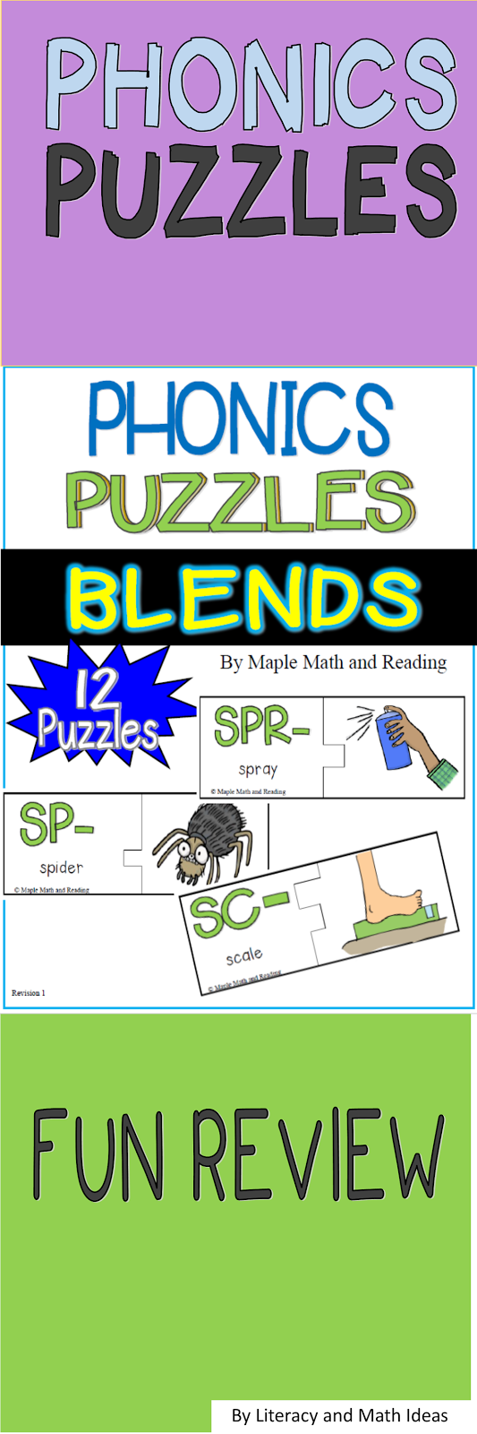 Review CCV Phonics with puzzles. 12 self-checking puzzles are ...