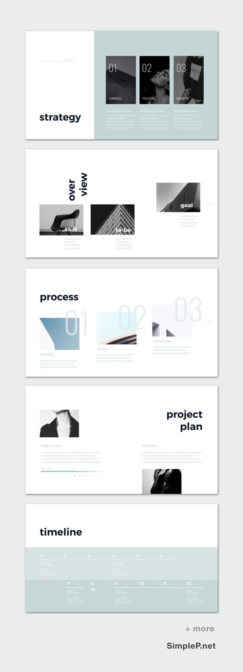 keynote template  but a very modern bold typography