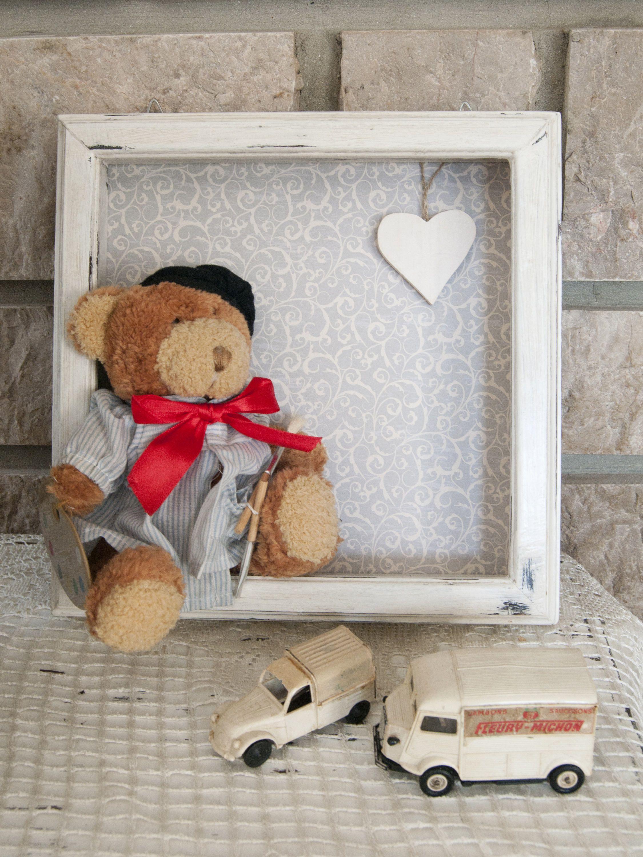 Wooden baby frame - Teddy bear frame - Newborn frame First birthday ...