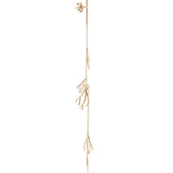 Sarah & Sebastian Coral 14 And 9-karat Gold Earring QWHCqA