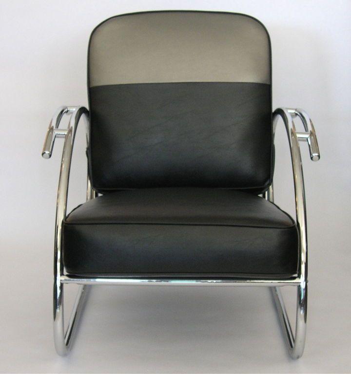Art Deco Chrome Chairs | Pair Of Streamline Moderne Art Deco Tubular Chrome  Chairs At 1stdibs