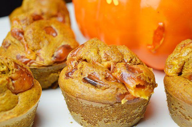 muffins met pompoen en cheddar