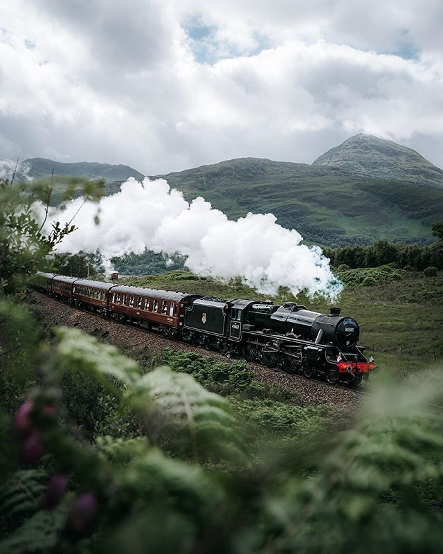 "VisitScotland on Instagram: ""Who recognises this steam train travelling through the Highlands?! 🙋⚡ What a shot by @itstommysworld taken of The Jacobite which runs from…"""