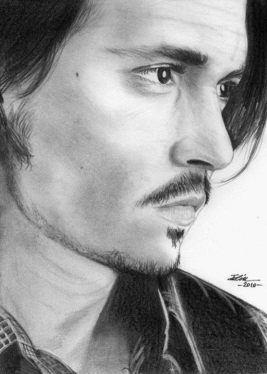Johnny depp johnny depp zeichnungen zeichnen und gesicht - Dessin johnny depp ...