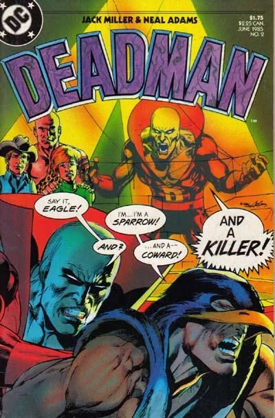 """Deadman #2  DC Comics  """"What Makes a Corpse Cry?"""" Plot by Carmine Infantino, written by Jack Miller with art by Neal Adams.  Story pages 6 and 17 are half pages for a total page count of 16 pages. Deadman Checklist by Paul (Legion of Super-Heroes) Levitz & Nicola (E-Man) Cuti."""