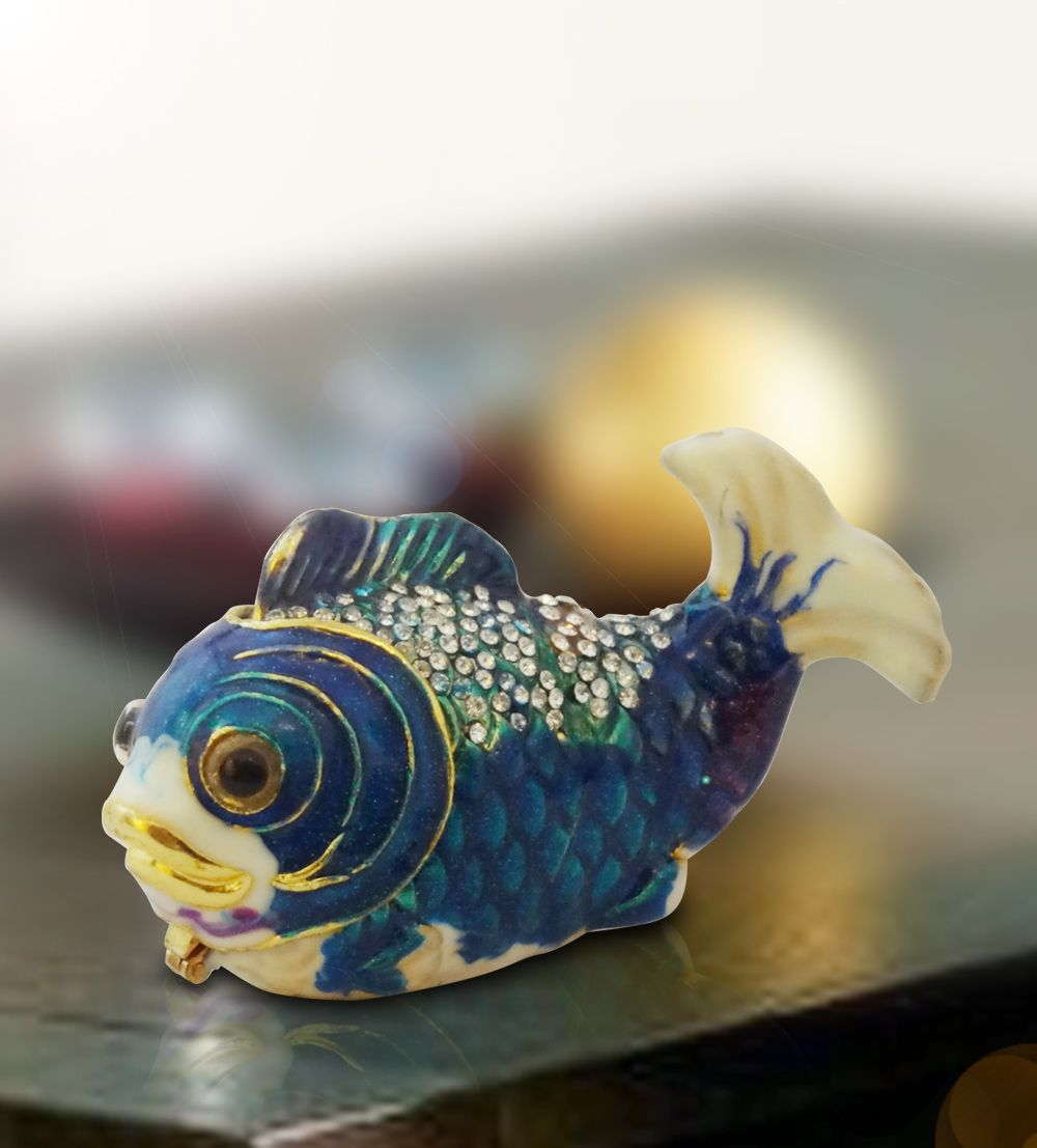 Wishbox Blue Fish Online Gift Shopping India Silver Plated Gifts