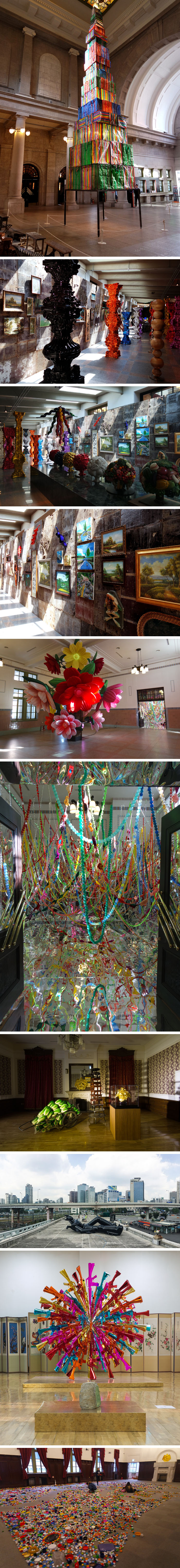 CHOI JEONG HWA http://www.widewalls.ch/artist/choi-jeong-hwa/ #contemporary #art #installation