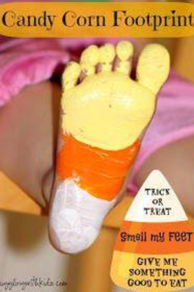 Candy corn feet