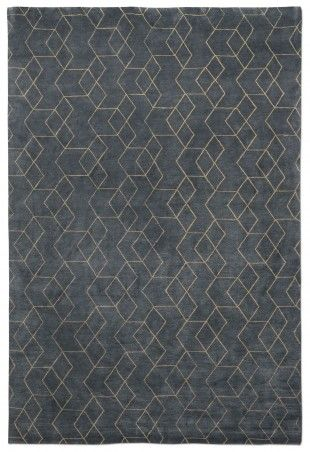 Blue And Grey Rugs In Living Room