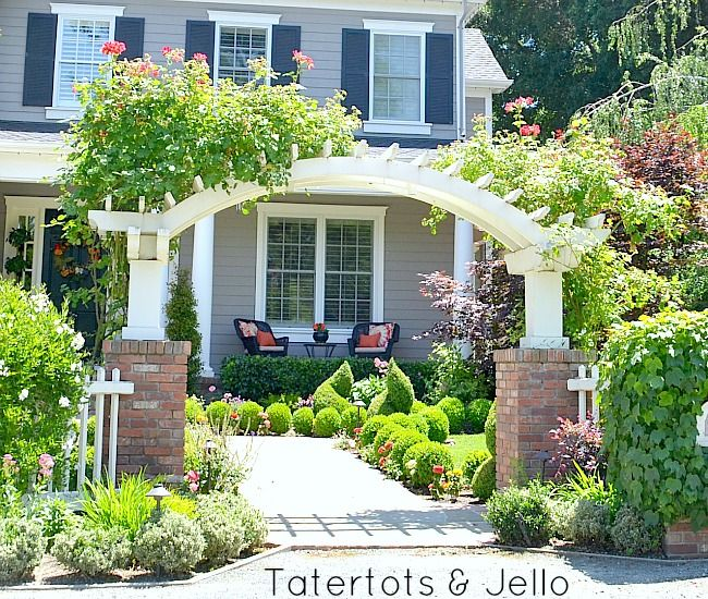 Arbor Over Gate Ideas: #1905Cottage: 12 DIY Pergola,Trellis And Gate Ideas