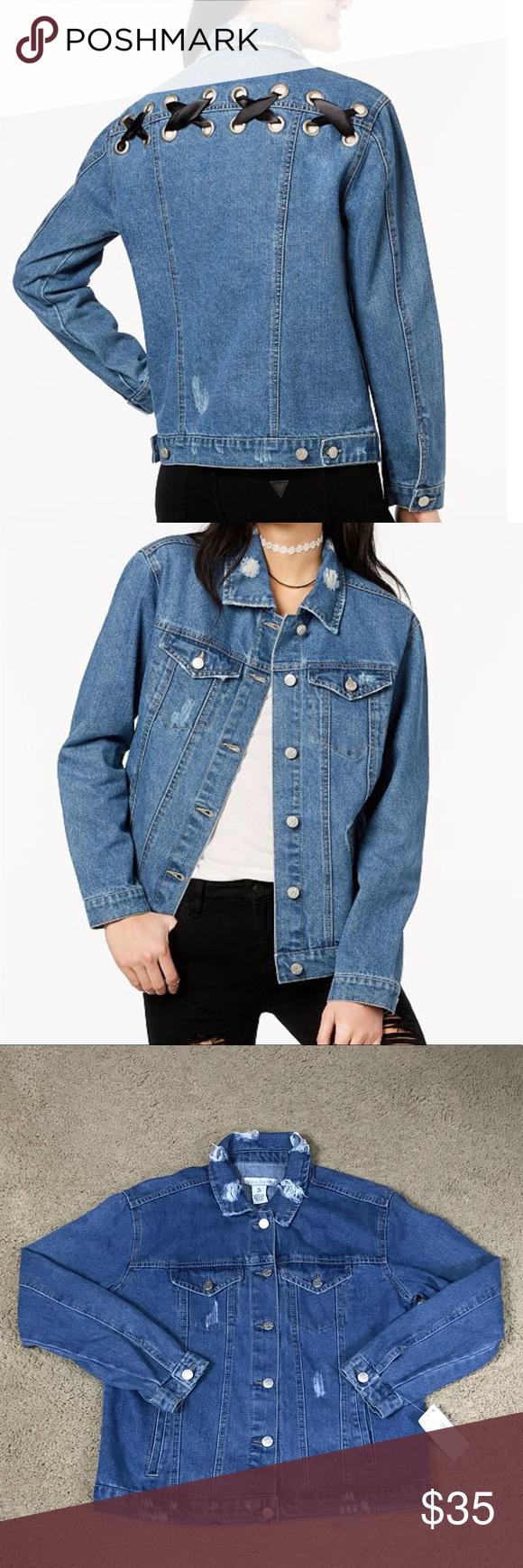 Lace Up Denim Jacket Denim Jacket Jackets Jacket Brands